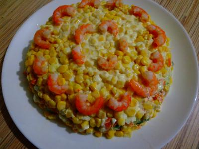 Салат с салатом айсберг и креветками рецепт